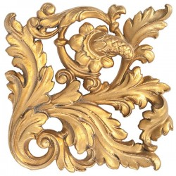 Золото с коричневой патиной-бледная (поталь)