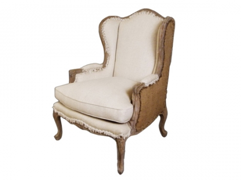 дизайнерское кресло в английском стиле Leon Wingback Chair