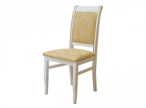 Белый стул с золотой патиной
