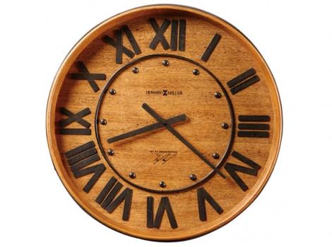 большие настенные часы в виде бочки