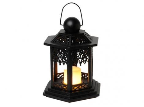 светильник декоративный led с таймером 20 см дерево черный