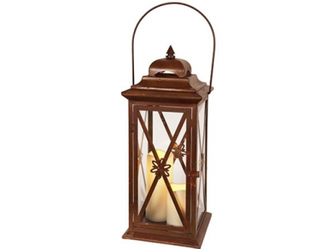 светильник декоративный LED с таймером 50 см металл коричневый