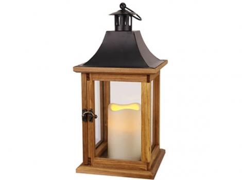 Светильник декоративный LED 35 см деревянный