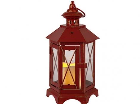 Светильник декоративный красный с таймером