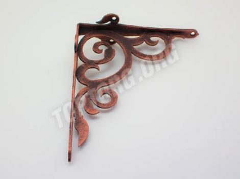 кронштейн для полок декоративный медь