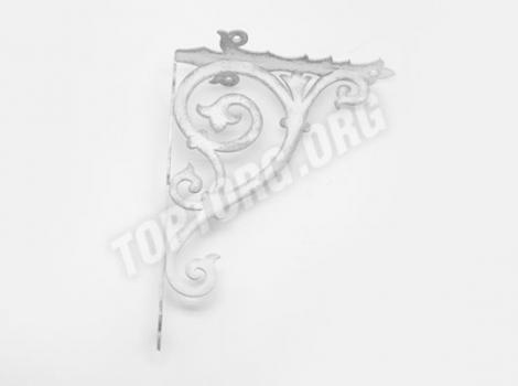 декоративный кронштейн для полки белый с серебряной патиной