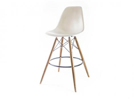 барный дизайнерский стул eames dsw бежевый