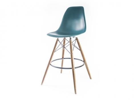 барный дизайнерский стул eames dsw цвет морской волны
