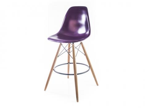 барный дизайнерский стул eames dsw пурпурный