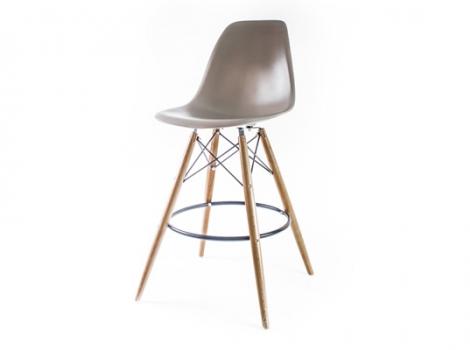 барный дизайнерский стул eames dsw серый