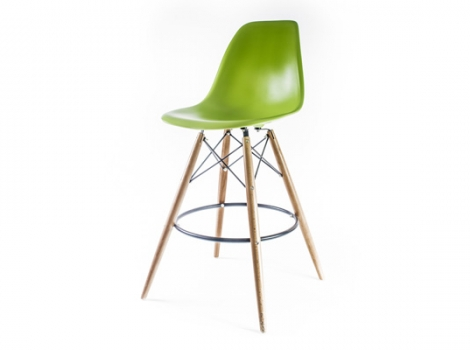 барный дизайнерский стул eames dsw зеленый