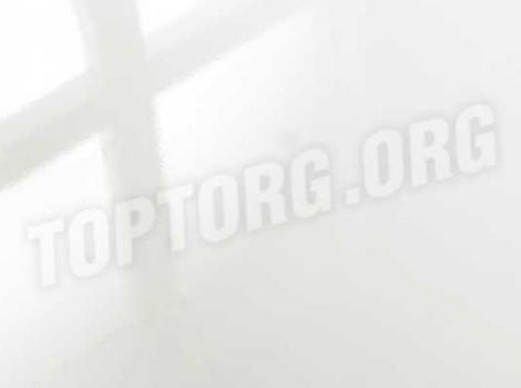 Глянцевый ламинат Falquon D2935 Uni white (без фаски)
