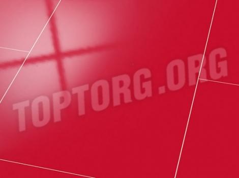 Глянцевый ламинат Falquon U148 Uni red с фаской