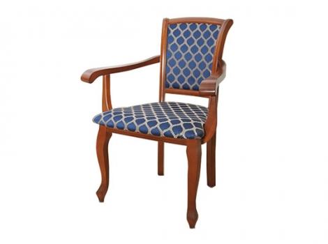 коричневое обеденное кресло с обивкой