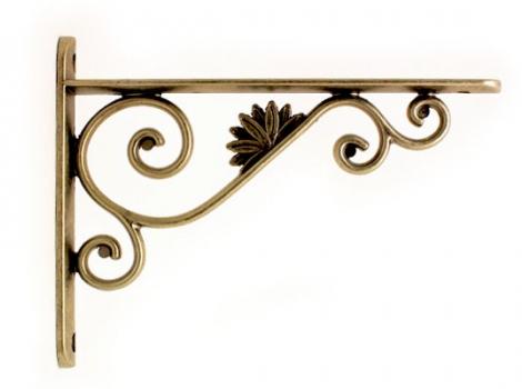 кронштейн для полки декоративный бронза