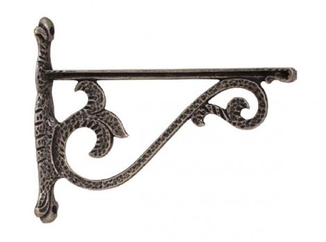 кронштейн для полки castello отделка серебро античное большой
