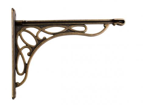 кронштейн для полки merletto отделка бронза античная французская большой