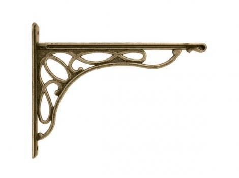 кронштейн для полки merletto отделка бронза античная малый
