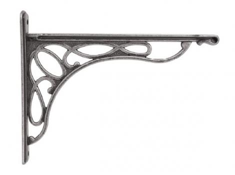 кронштейн для полки merletto отделка серебро античное большой