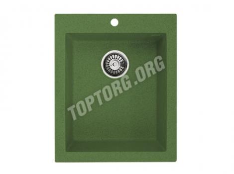 прямоугольная мойка из искусственного камня, цвет зеленый