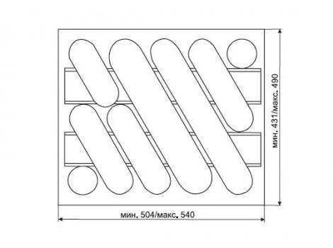 лоток для столовых приборов в ящик 60 см