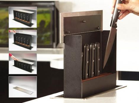Встраиваемый выдвижной механизм для хранения ножей Knife box
