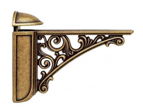 Кронштейн для полки, (95х125) бронза