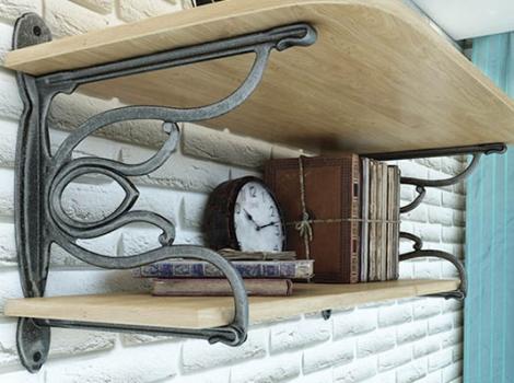 Кронштейн для полки Campanello отделка железо античное черное