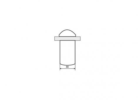 Кронштейн для полки Пеликан классический отделка серебро старое