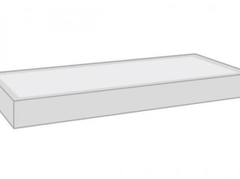 Полка-светильник 45х30 см, алюминий + стекло