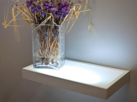 Полка-светильник 45х20 см, венге