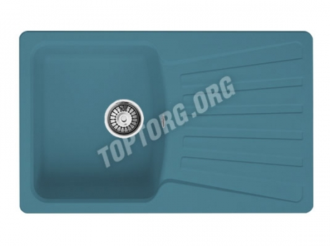 прямоугольная мойка из искусственного камня, цвет голубой