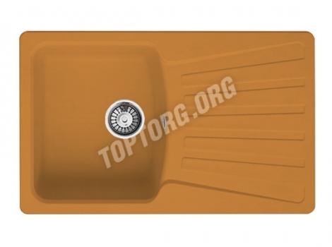 прямоугольная мойка из искусственного камня, цвет оранжевый