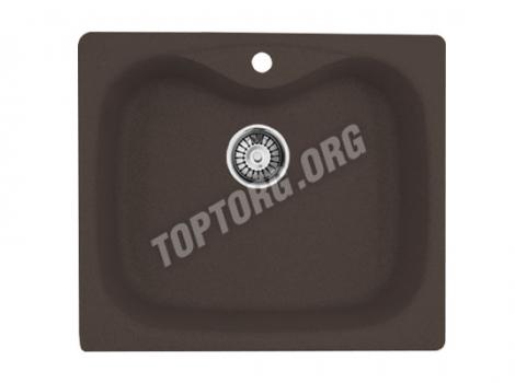 прямоугольная мойка из искусственного камня, цвет шоколад металлик
