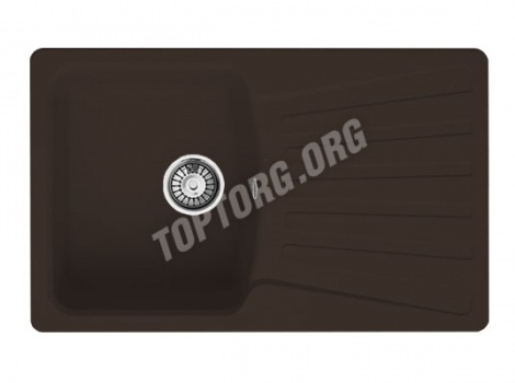 прямоугольная мойка из искусственного камня, цвет шоколад
