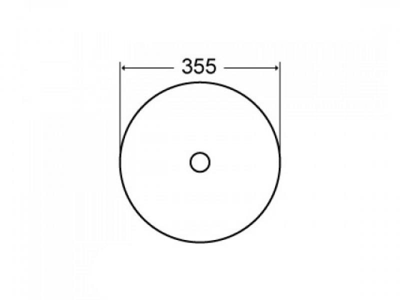 Черная накладная раковина Melana 7078DMВ