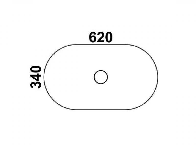 Черная накладная раковина Melana 7811АB