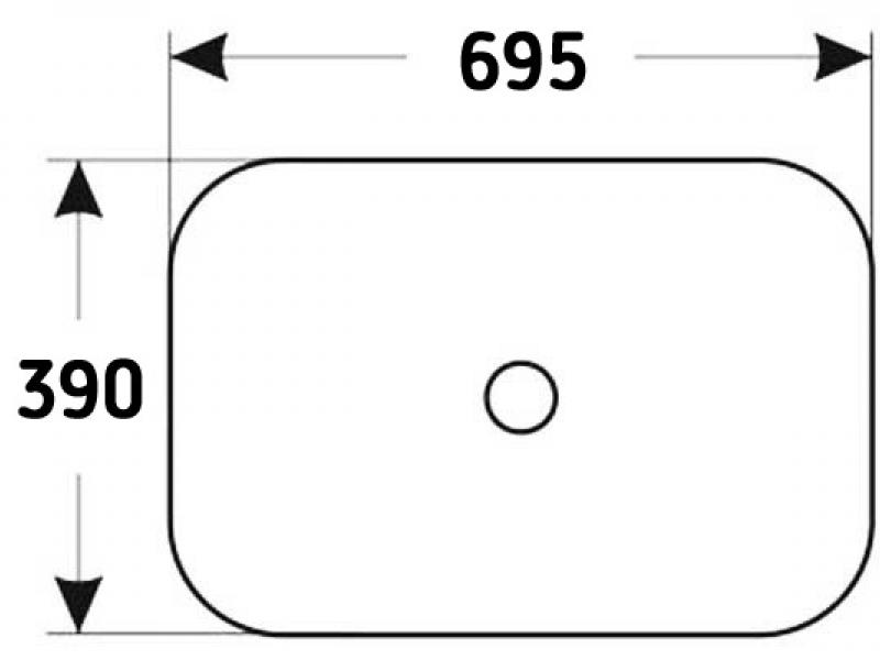 Накладная раковина Melana E408
