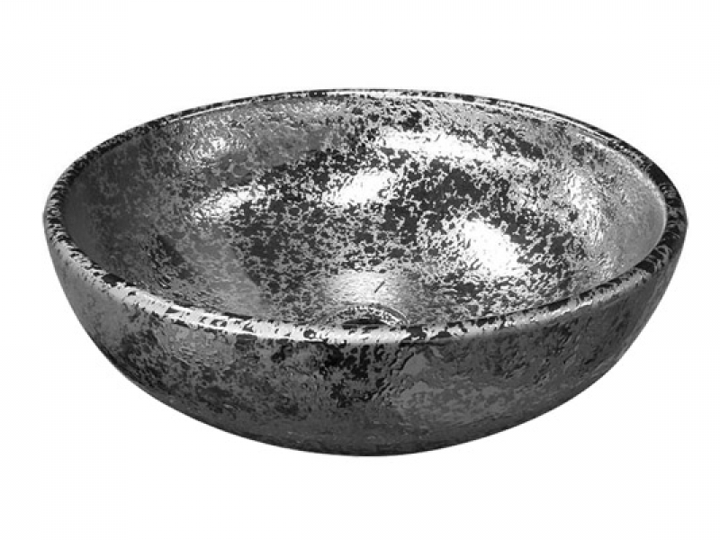 серебряная накладная раковина Melana J2056S
