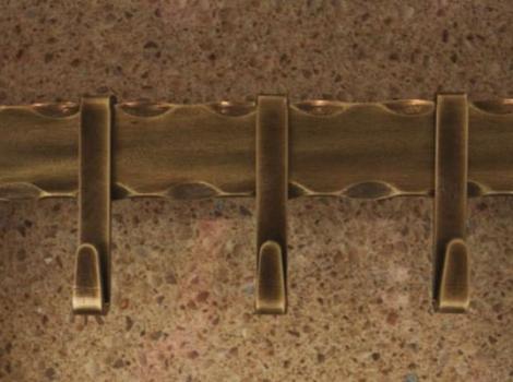 Рейлинг для кухни 900мм, бронза античная