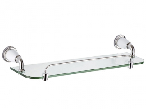 стеклянная двухярусная полка в ванную