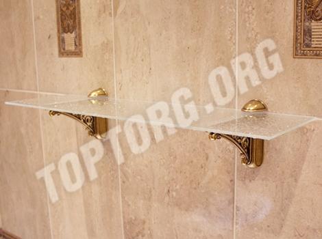 Стеклянная полка для ванной