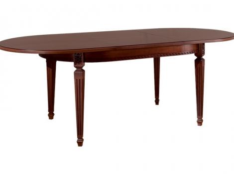 Стол кухонный раскладной 1600 х 1000 черешня, темно-коричневый, патина