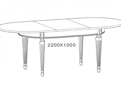 Стол кухонный раскладной 1600 х 1000 Ясень белый зототая патина