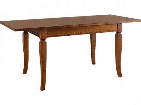 Стол кухонный раскладной 1200 х 800, коричневый шпон