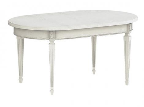 овальный обеденный стол патина серебро