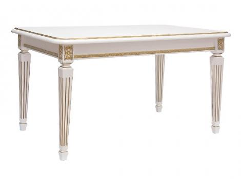 стол белый с золотой патиной