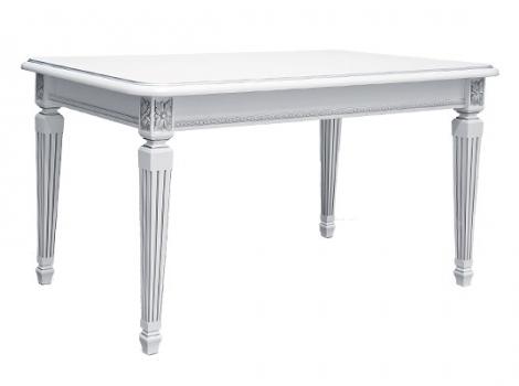 стол белый с серебряной патиной