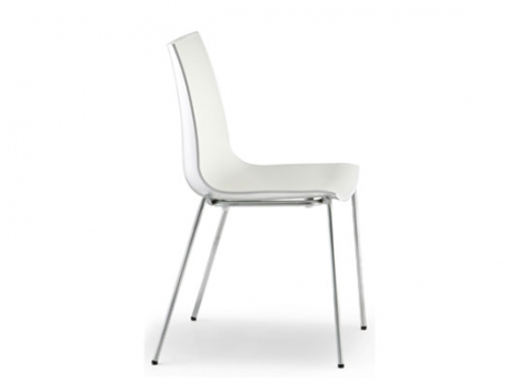 дизайнерский современный стул белый