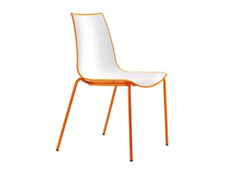 дизайнерский современный стул оранжевый